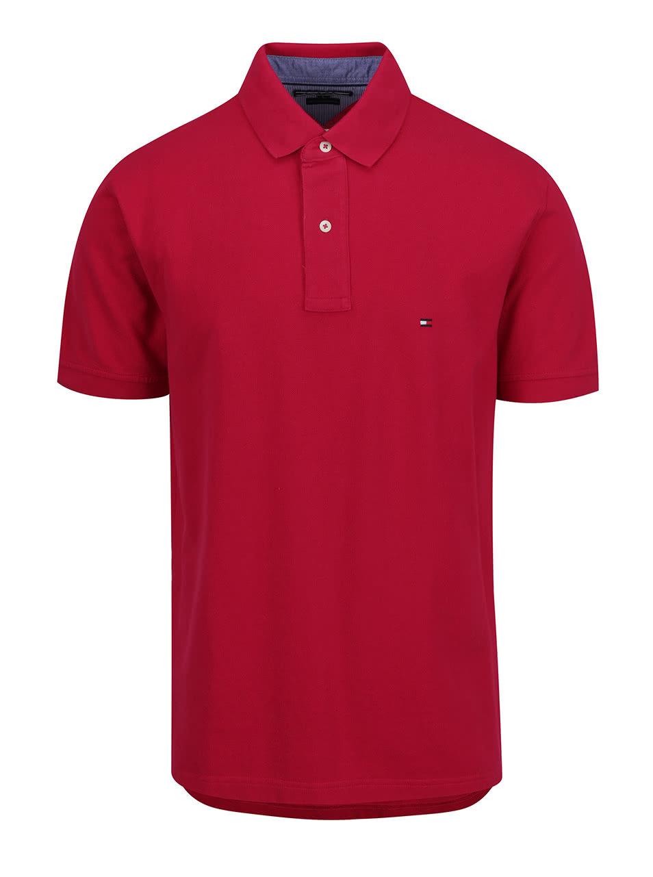Červená pánska polokošeľa Tommy Hilfiger ... 680f6a5fe4f