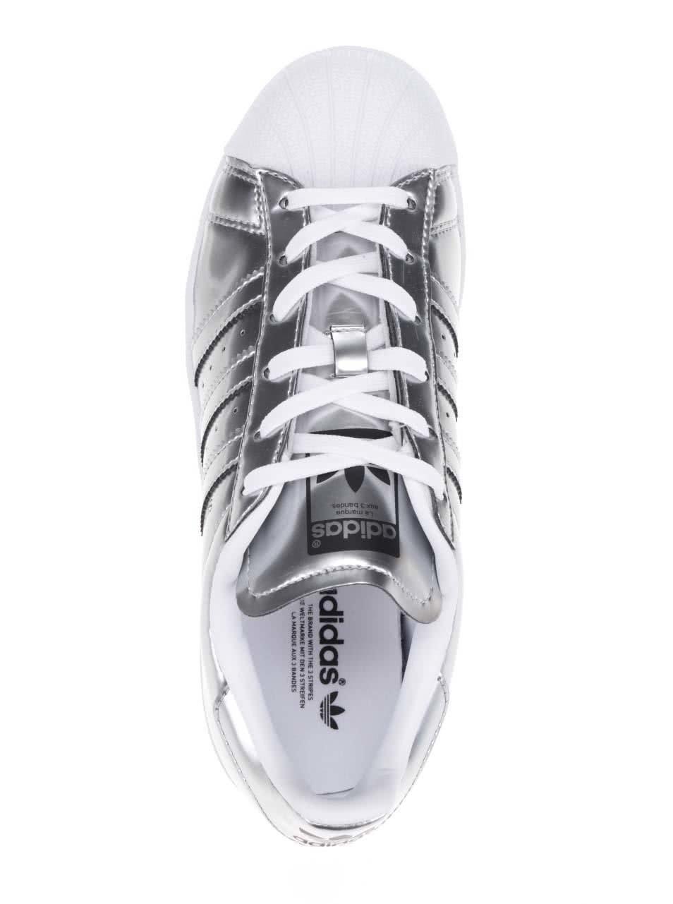 Dámské metalické tenisky v stříbrné barvě adidas Originals Superstar ... 9b97135c86
