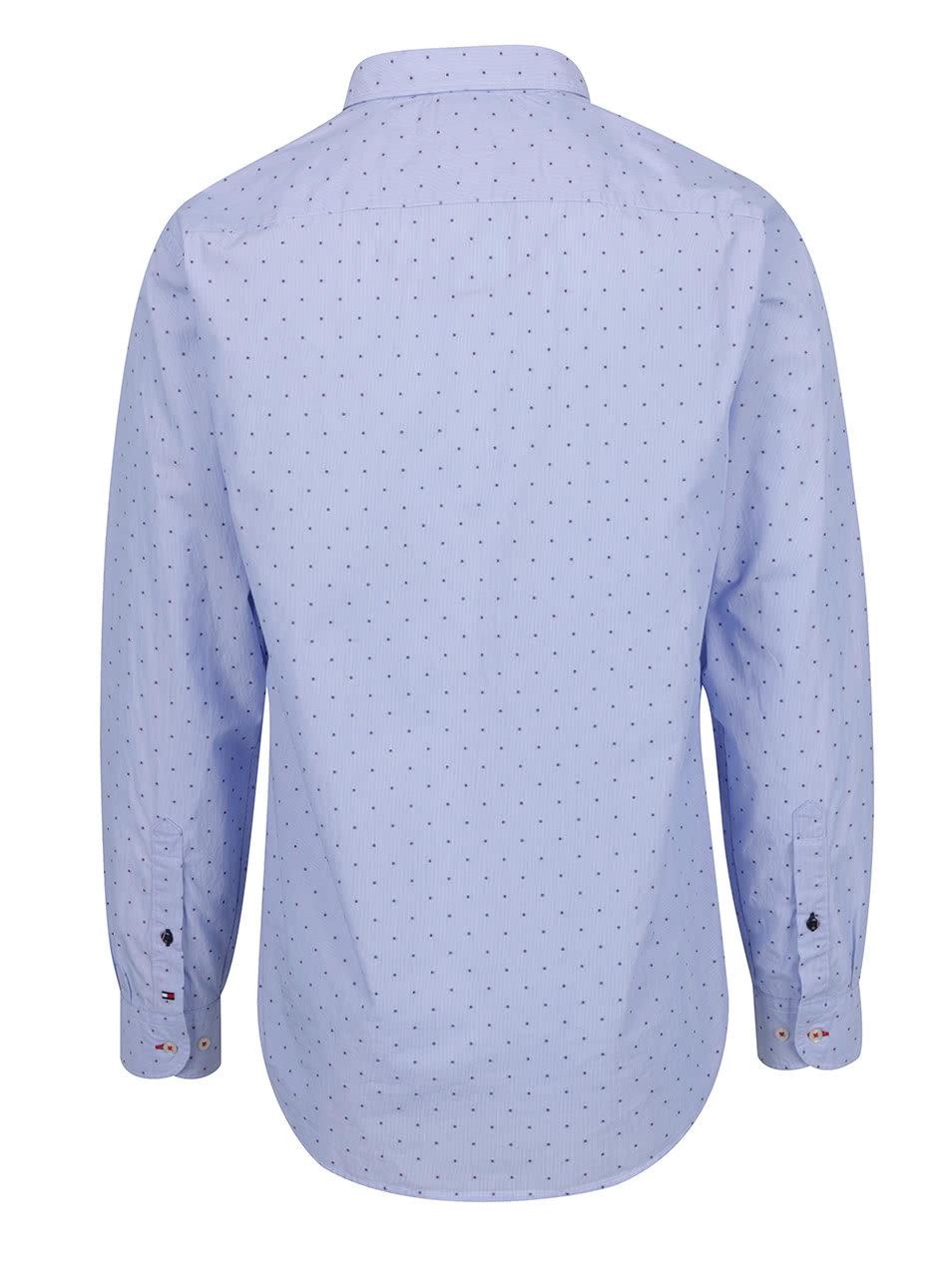 Modrá vzorovaná pánská košile Tommy Hilfiger ... 35eb97216f