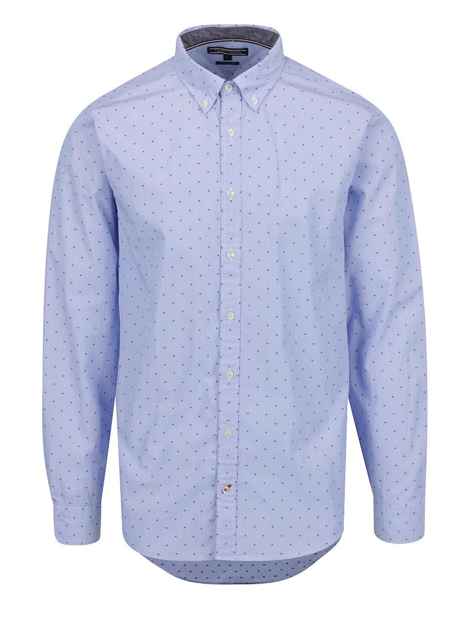 5045a3d0fe7 Modrá vzorovaná pánská košile Tommy Hilfiger ...