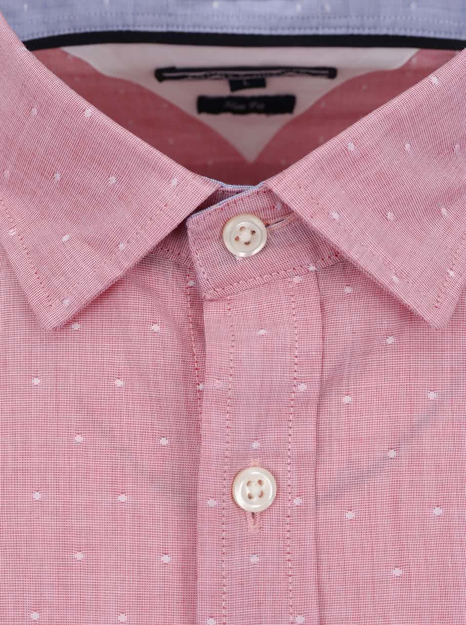 ededaf8cb1de Ružová vzorovaná pánska košeľa Tommy Hilfiger ...