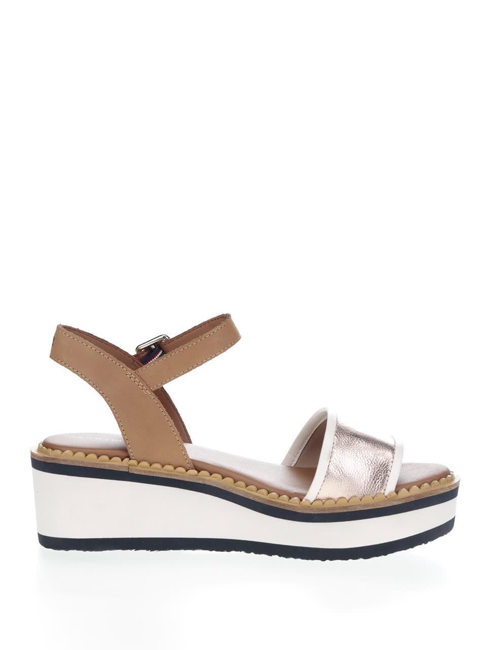 2144cdcc6b67 Krémovo-hnedé dámske sandále na platforme Tommy Hilfiger ...