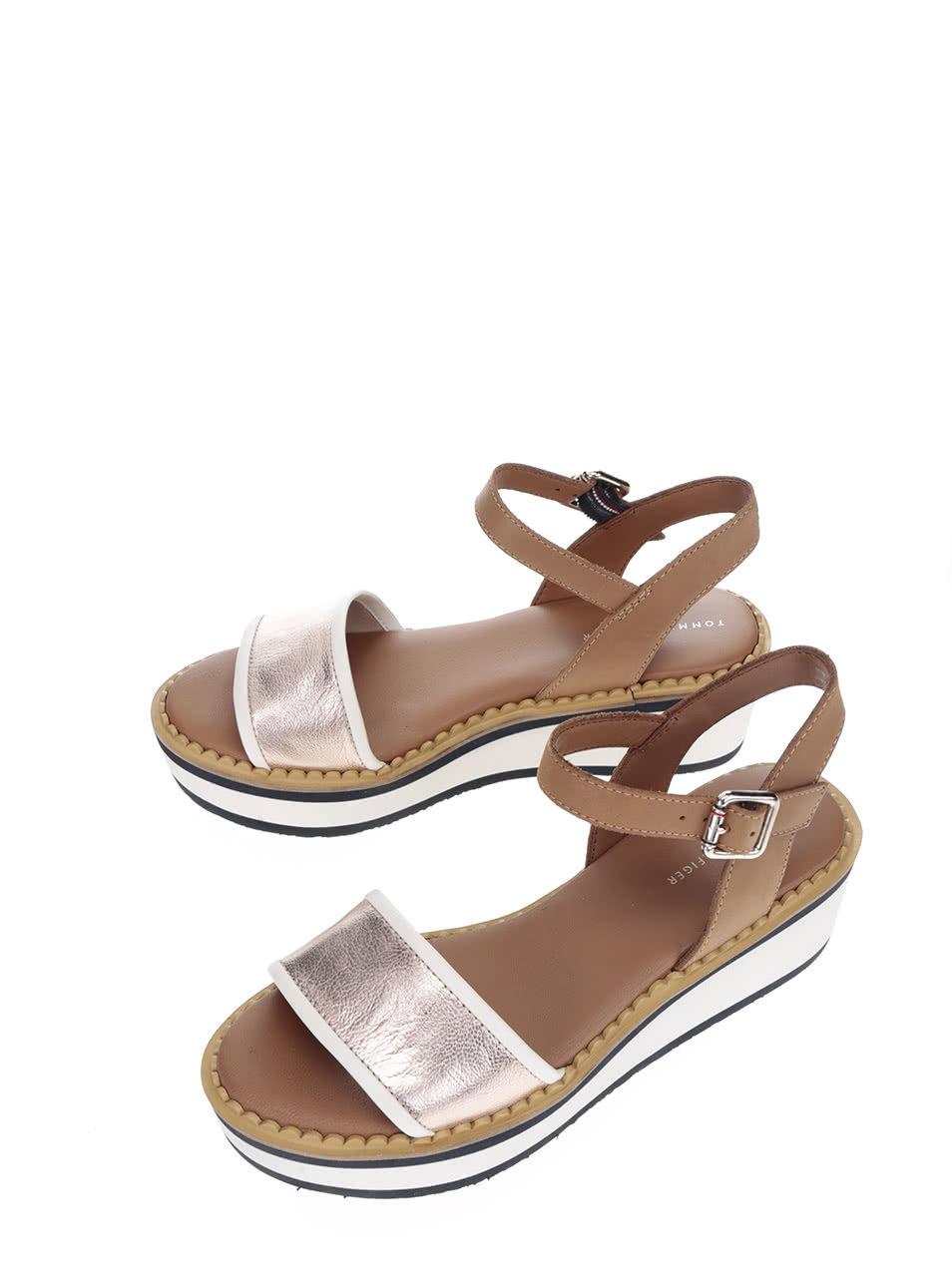 e5b363970f48 Krémovo-hnedé dámske sandále na platforme Tommy Hilfiger ...