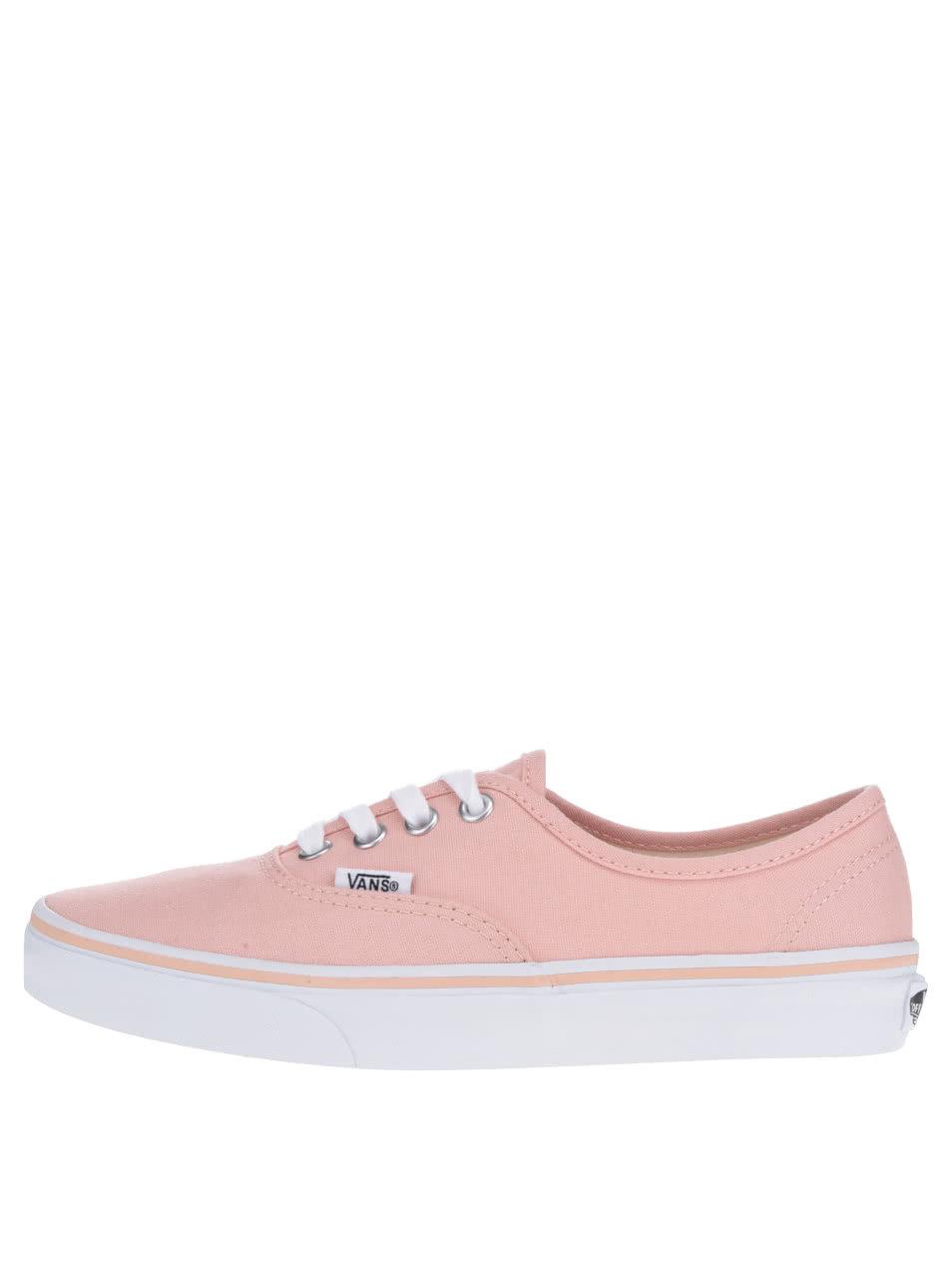 Světle růžové dámské tenisky VANS Authentic ... b665f1bc49b