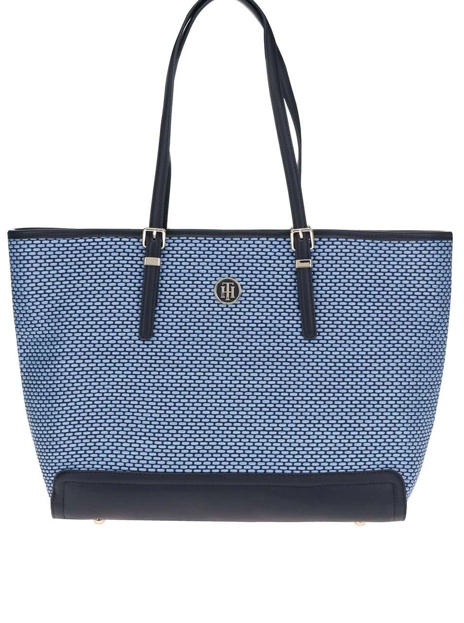e429ed3417 Modrá veľká kabelka do ruky Tommy Hilfiger ...