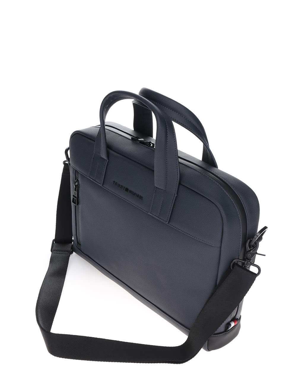 0bb672d272 Tmavě modrá pánská taška na notebook Tommy Hilfiger ...