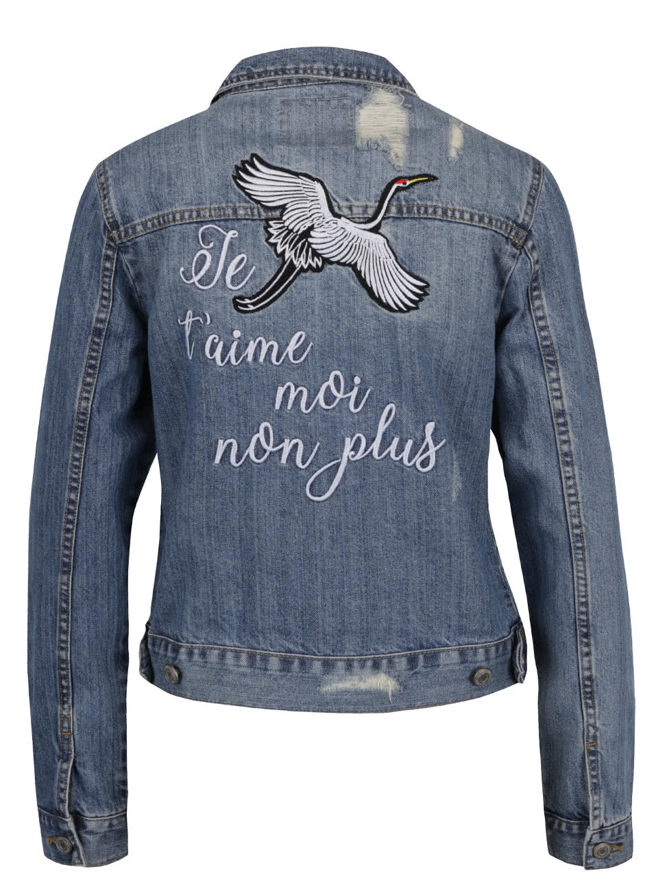 33104505cd Modrá džínová bunda s nášivkami TALLY WEiJL ...
