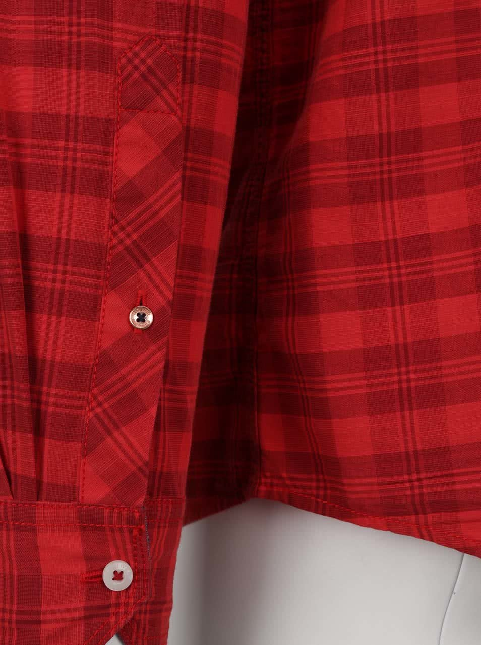 Červená kostkovaná pánská košile s kapsou s.Oliver ... a05b18e7aa