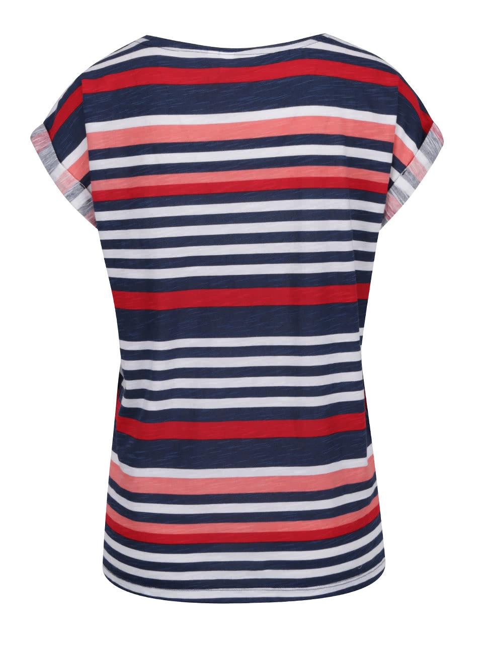 234e46f3a92f Bílo-modré dámské pruhované tričko QS by s. Oliver