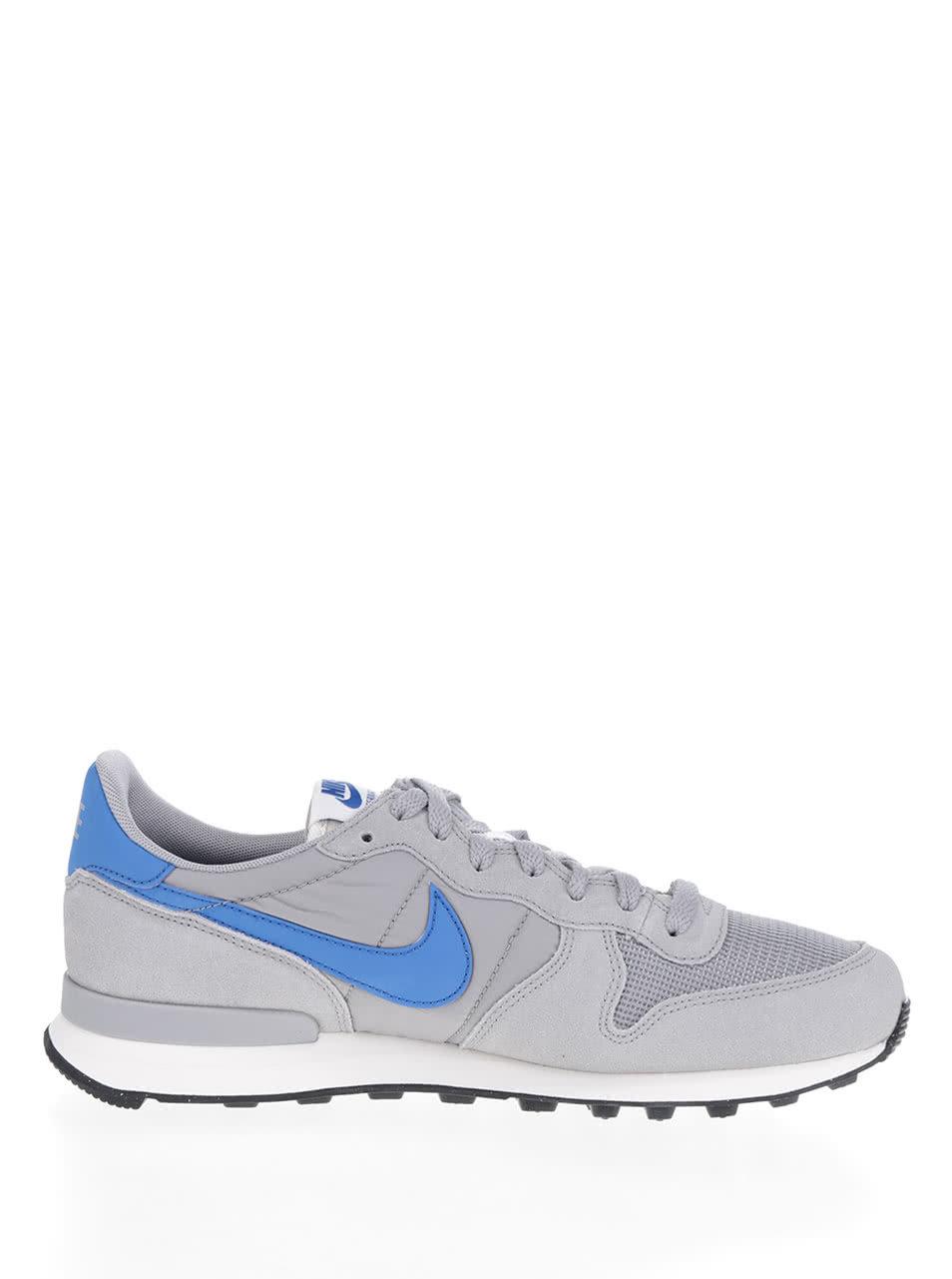Šedé pánské tenisky se semišovými detaily Nike Internationalist ... 3028933f128