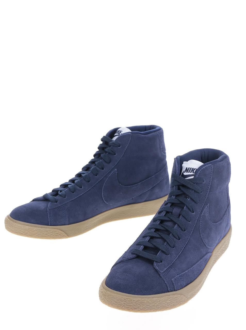 e6893d8d94b Tmavě modré pánské kotníkové semišové tenisky Nike Blazer Mid-Top ...
