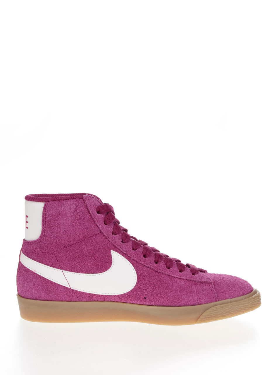 Růžové dámské kotníkové semišové tenisky Nike Blazer Mid Suede Vintage ... 3c769736705