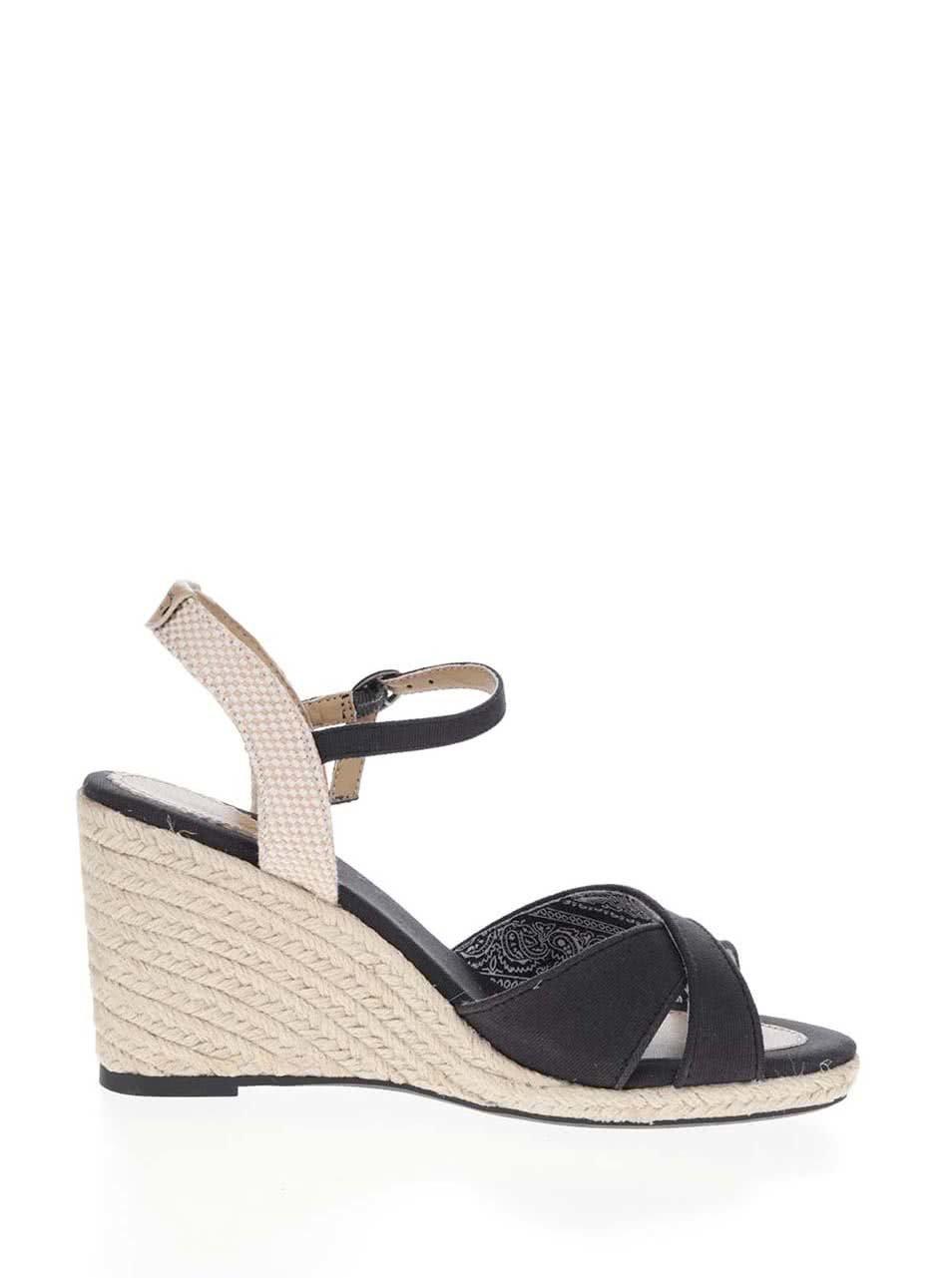 e8713da8eb Čierne dámske sandále na klinovom podpätku Pepe Jeans Shark Basic ...