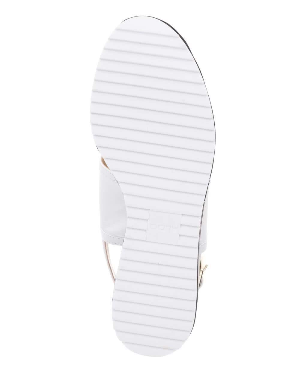 e14d3ea03e Biele dámske sandále na platforme ALDO Jin