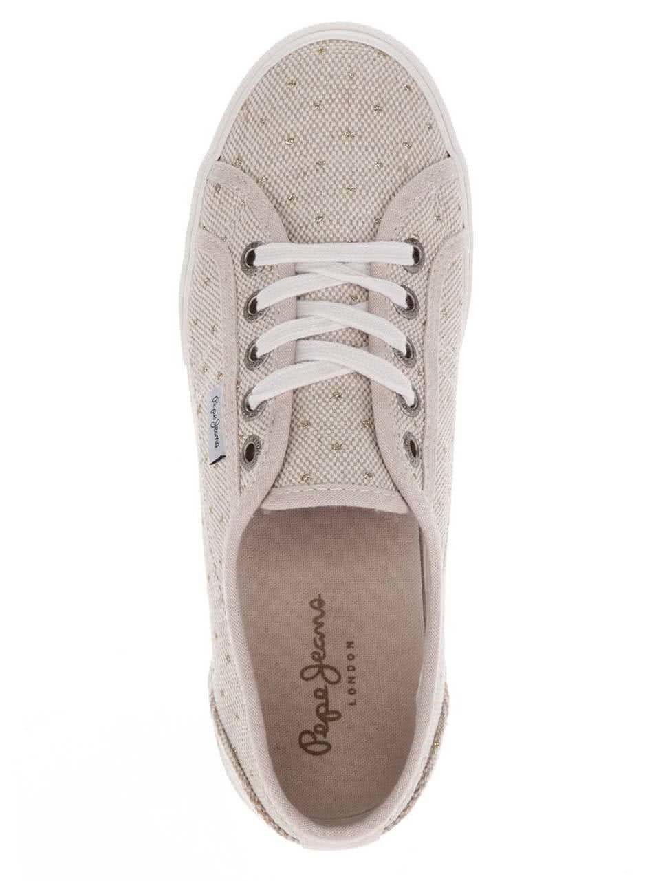 Béžové dámské puntíkované tenisky Pepe Jeans Aberlady ... ee29313047