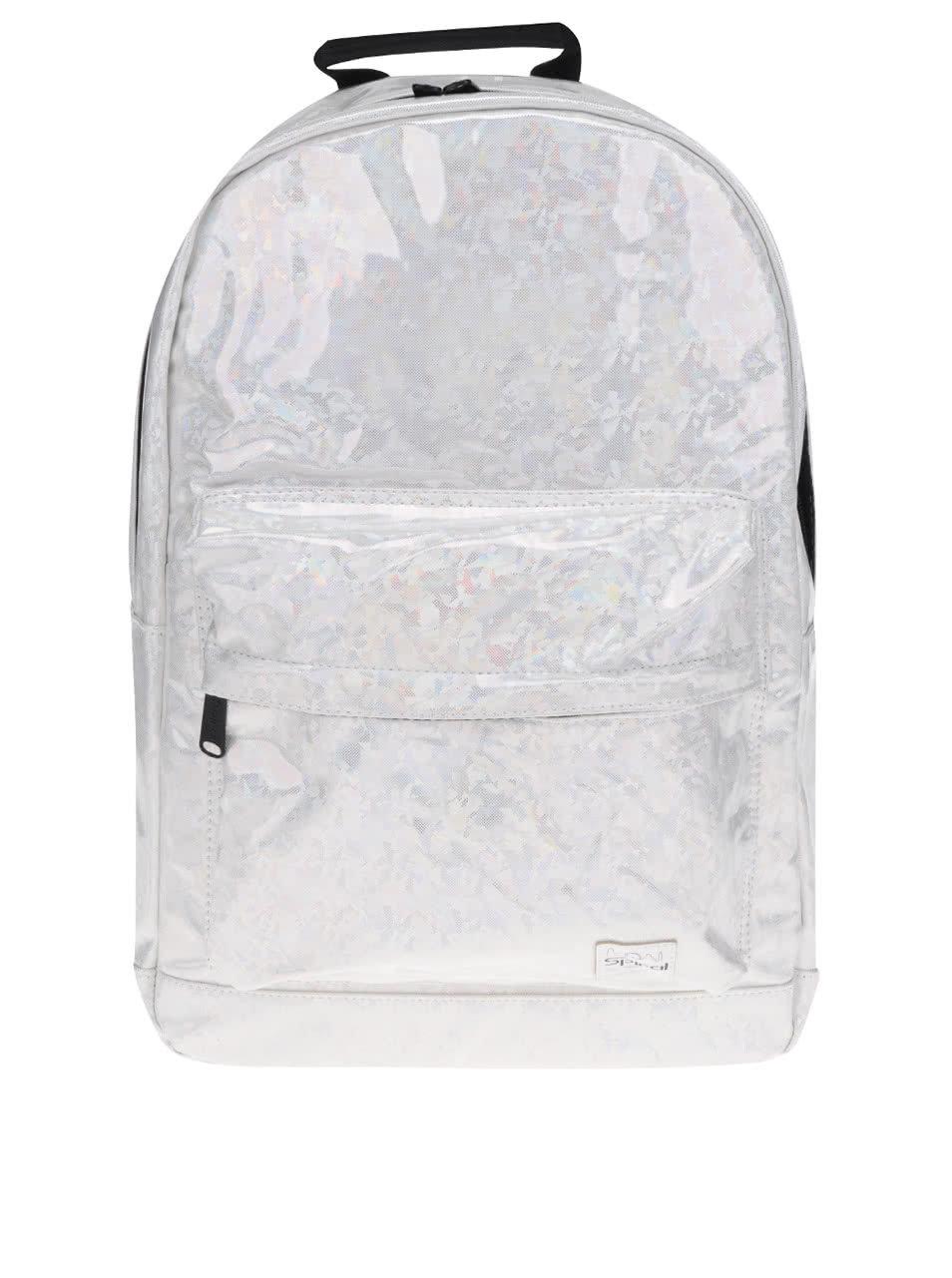 0f842d246ab Krémový dámský holografický batoh Spiral White Diamond 18 l ...