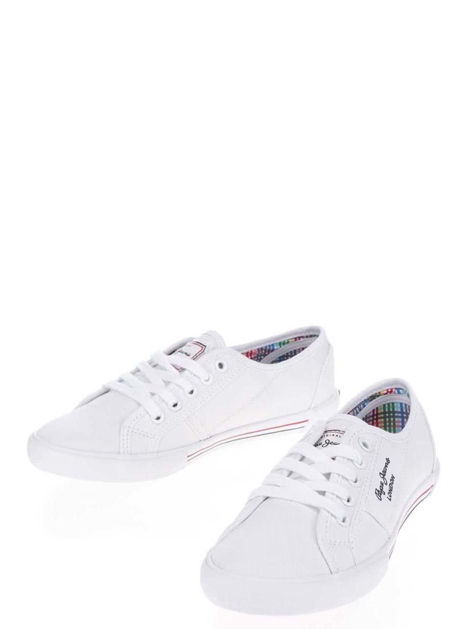 Bílé dámské tenisky Pepe Jeans Aberlady Basic ... c59dbd874a