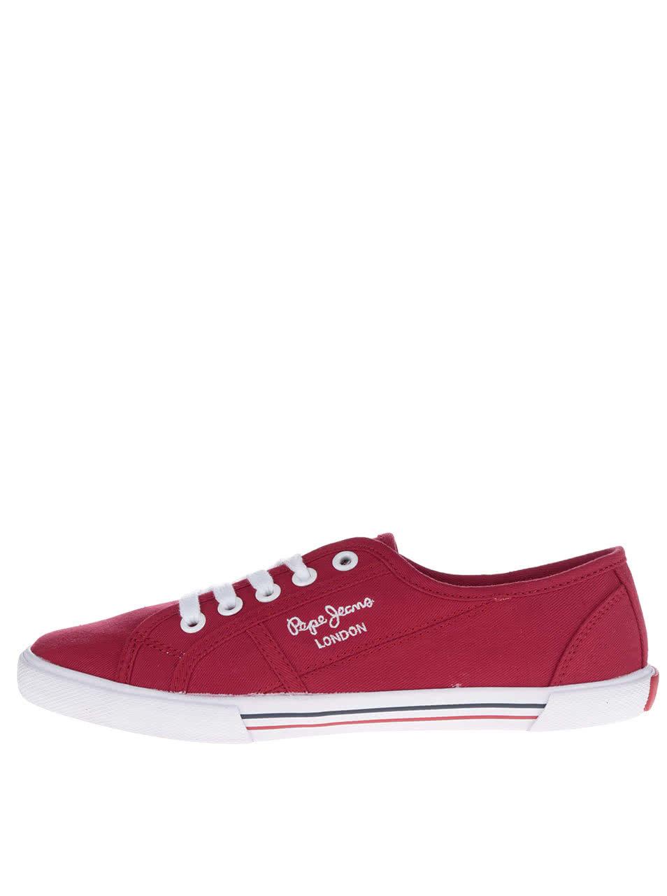 Červené dámske tenisky Pepe Jeans Aberlady Basic ... c98d51864c
