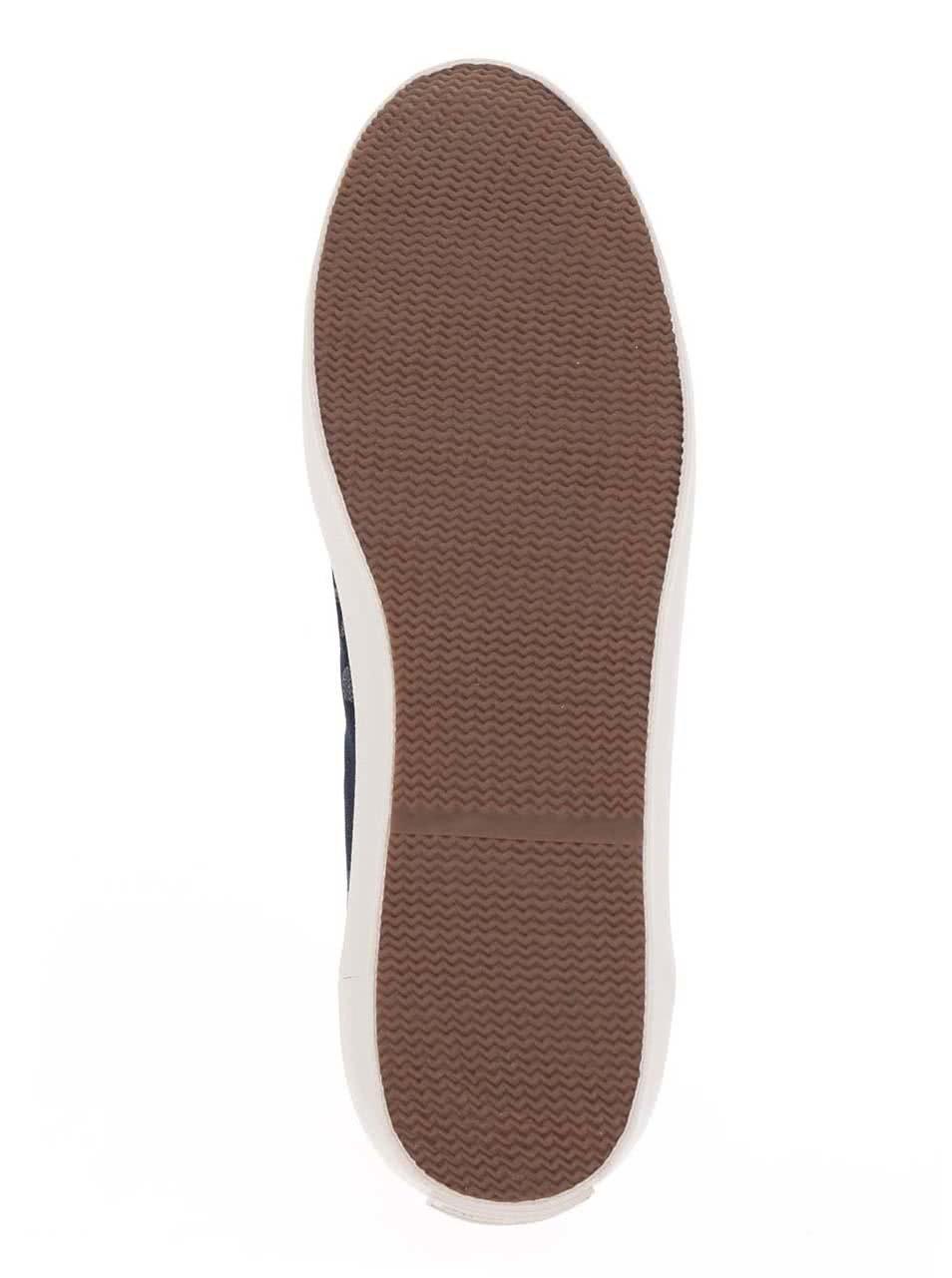 Modré pánske maskáčové tenisky s gumovou špičkou Pepe Jeans Tokio Camu ... 05826563bed
