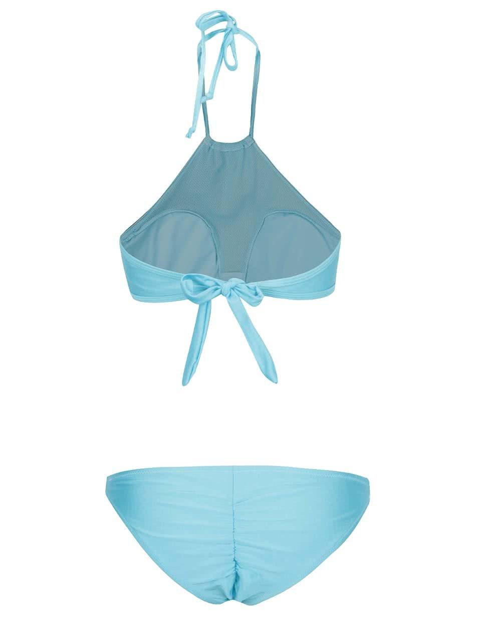 f4179aaab51 Světle modré dvoudílné plavky se síťovanými detaily Relleciga ...