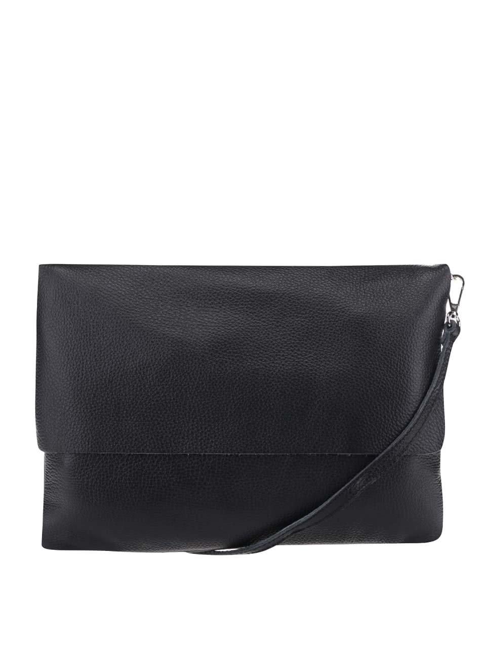 Černá kožená crossbody kabelka ZOOT