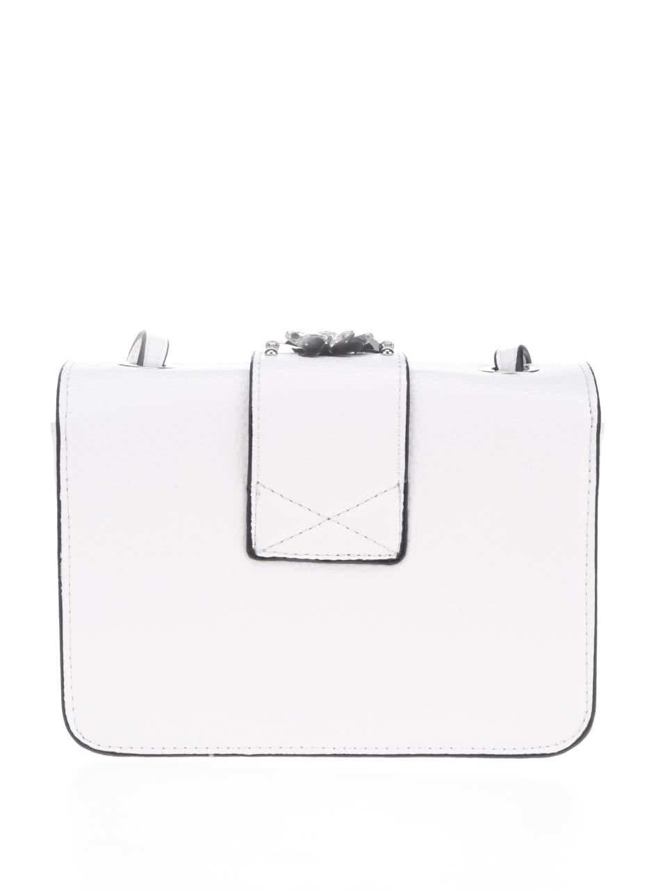 cb15111358 Biela crossbody kabelka s aplikáciou v striebornej farbe Miss Selfridge ...
