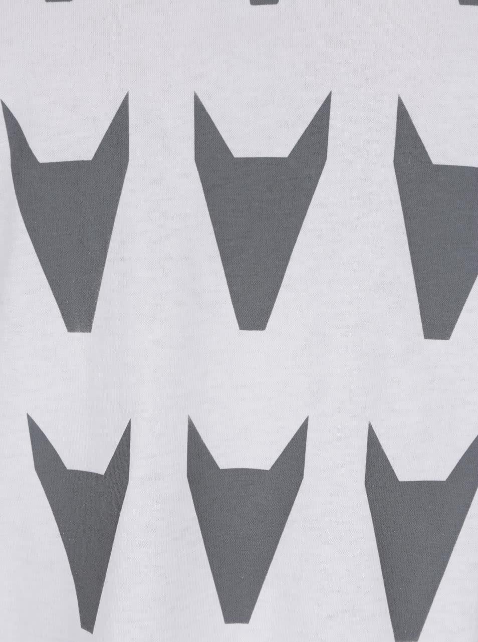 """""""Dobré"""" dámské šedo-bílé tričko City Souls by Elajediova"""