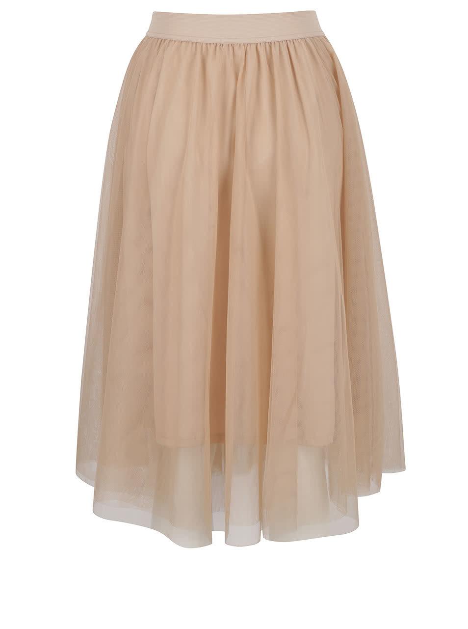 d60a2cdfbcf Béžová tylová midi sukně ONLY Maja ...
