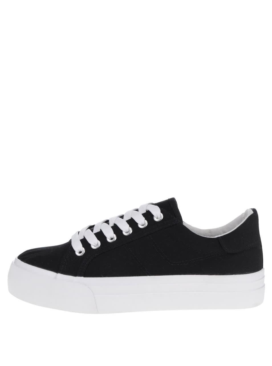 Čierno-biele tenisky Tamaris ... db408f28ae2