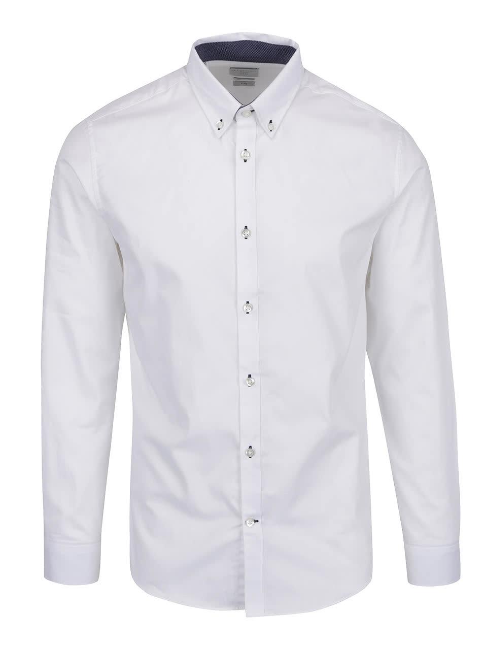 Bílá slim fit formální košile Selected Homme Mark