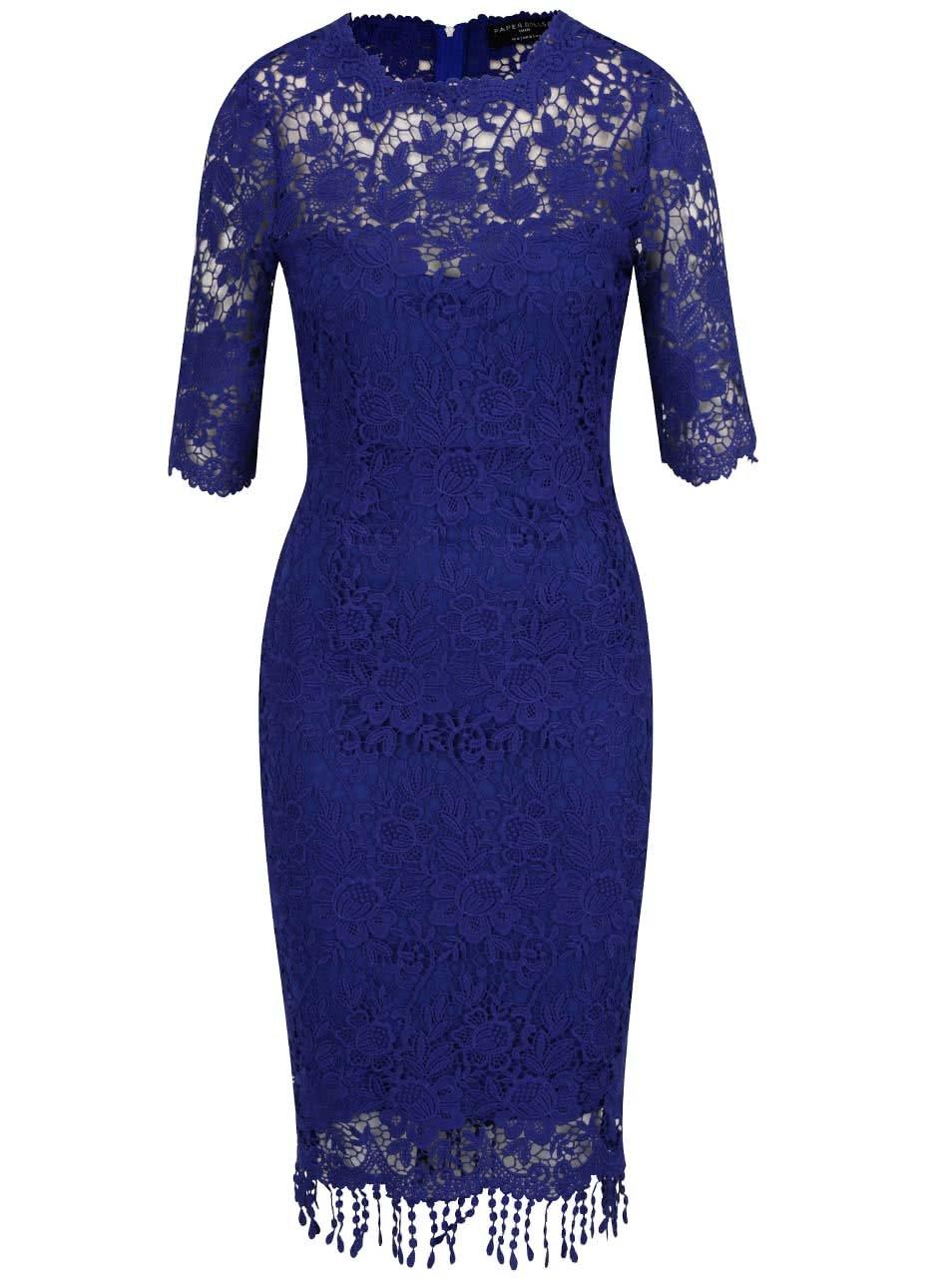 4c789d21c95f Modré čipkované šaty Little Mistress ...