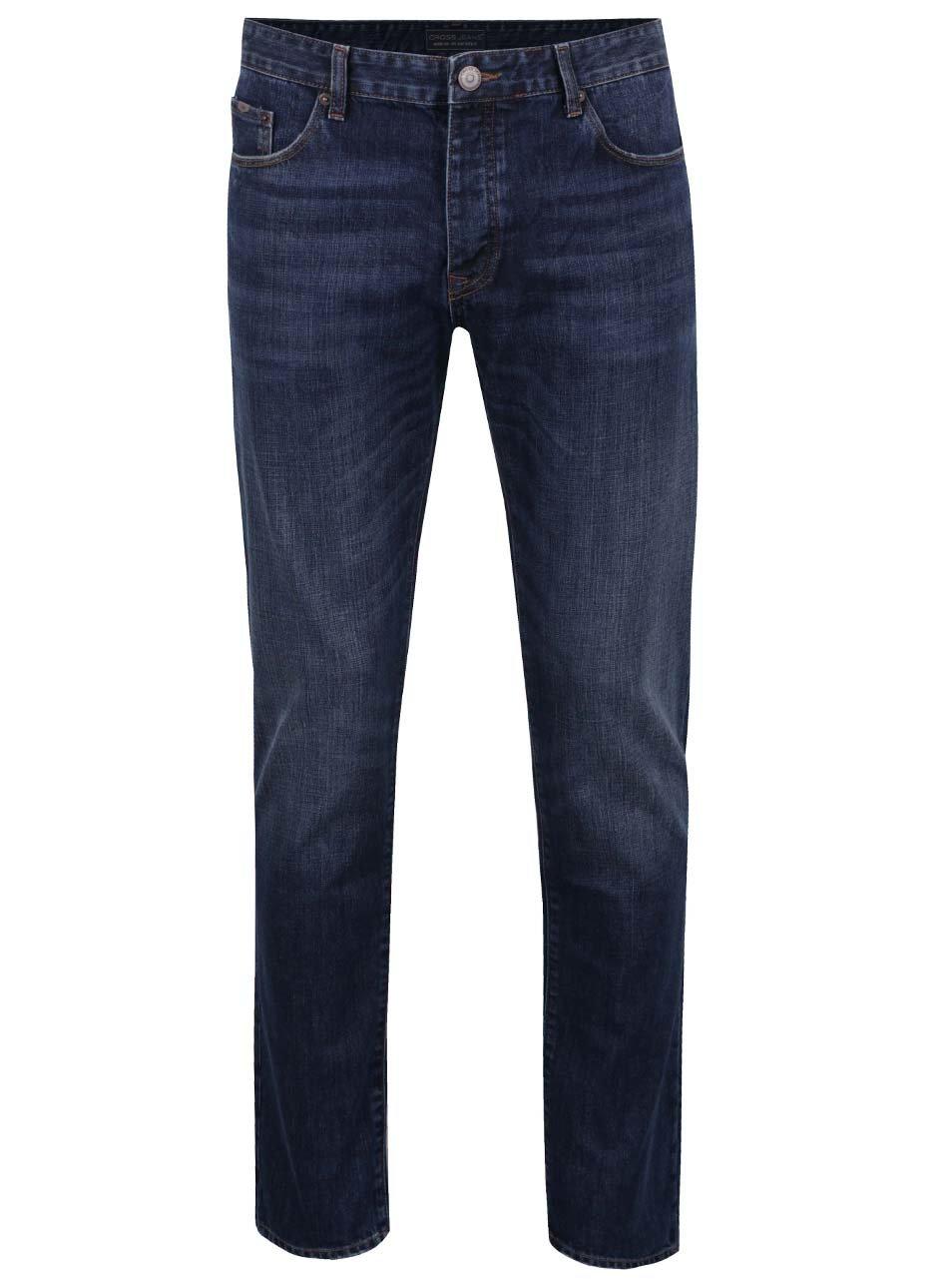 Modré pánské džíny Cross Jeans Tapered ... 11655535d3