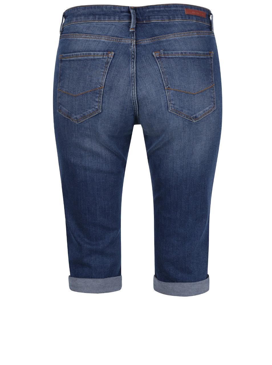Modré dámské džínové kraťasy nad kolena Cross Jeans ... bbff4c2740