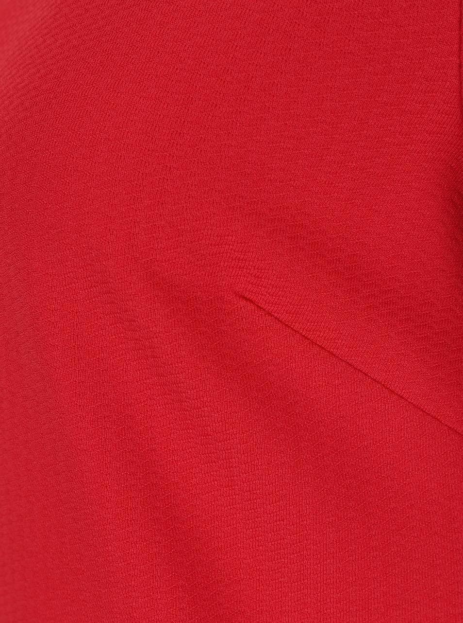 ea5830822453 Červené voľné šaty s volánmi na rukávoch Dorothy Perkins ...