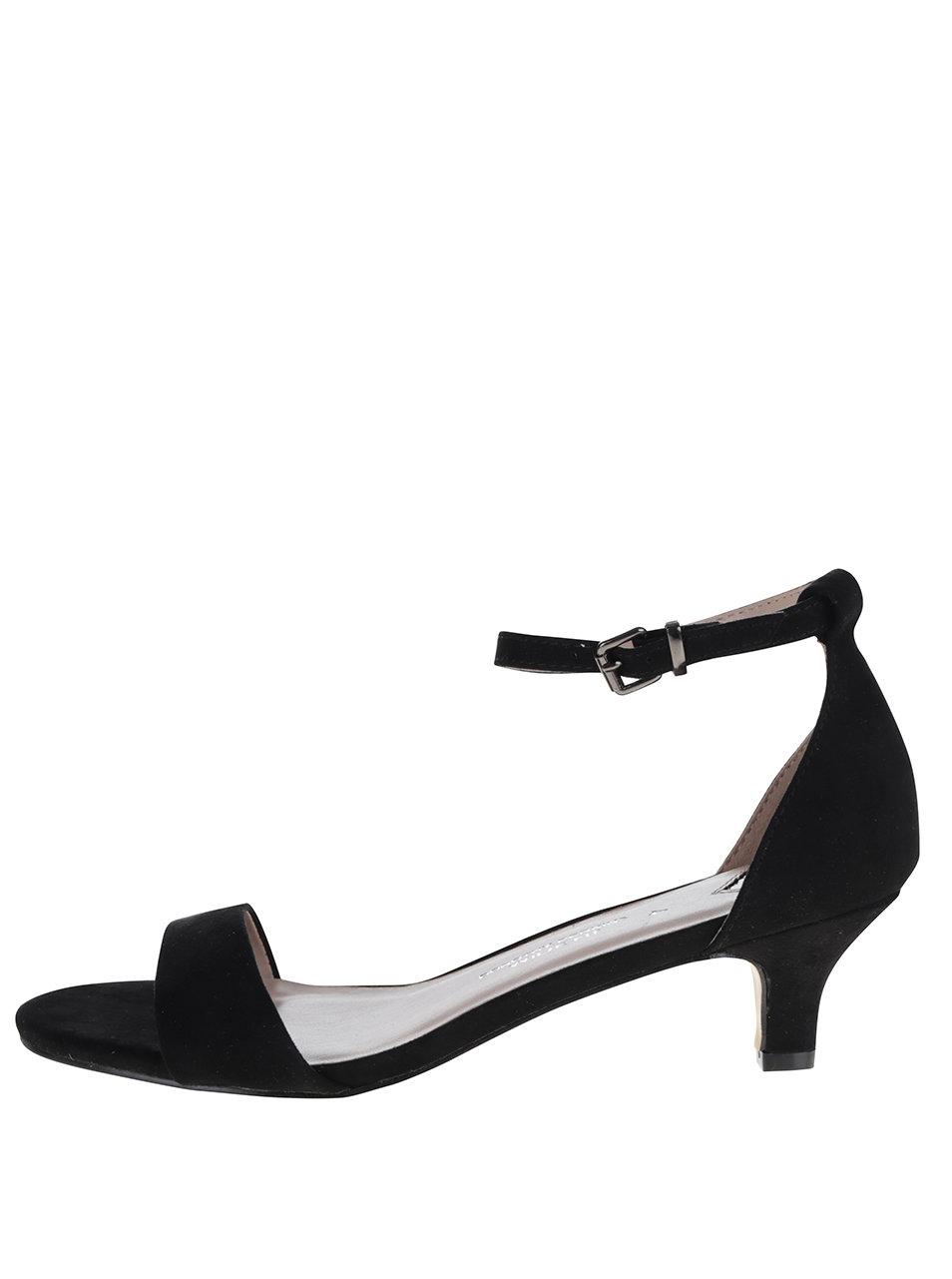 Černé sandálky na podpatku wide fit Dorothy Perkins ... 3d3de2f8b1