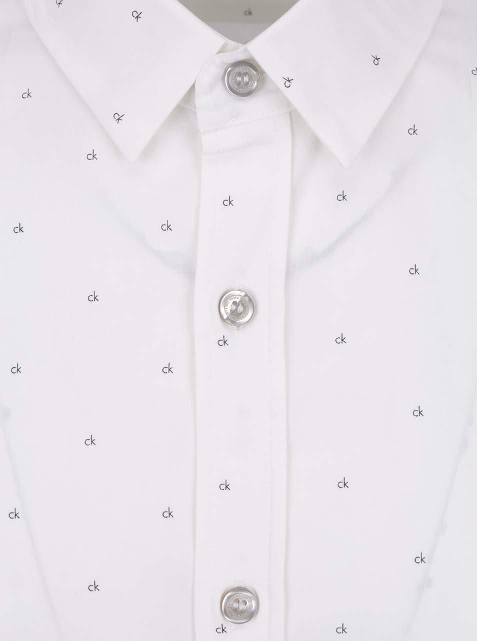 Bílá pánská vzorovaná košile Calvin Klein Jeans ... 70ba7b36c4