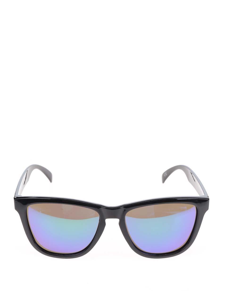 6f00a6923 Čierne pánske slnečné okuliare s modrými sklami Nectar Wayfarer ...