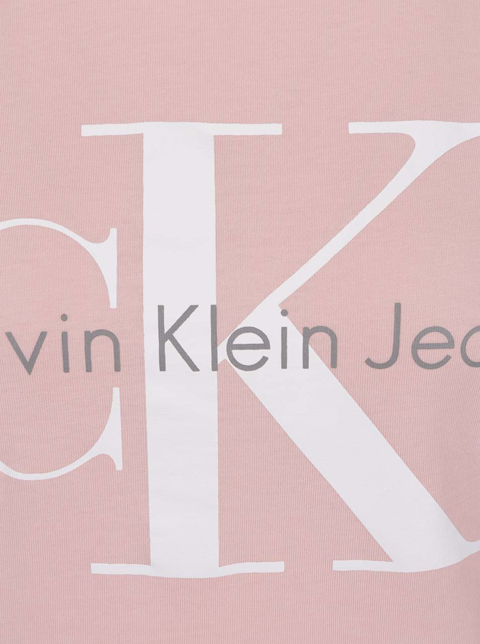 07cc64fba52b Světle růžové dámské tričko Calvin Klein Jeans Shrunken ...