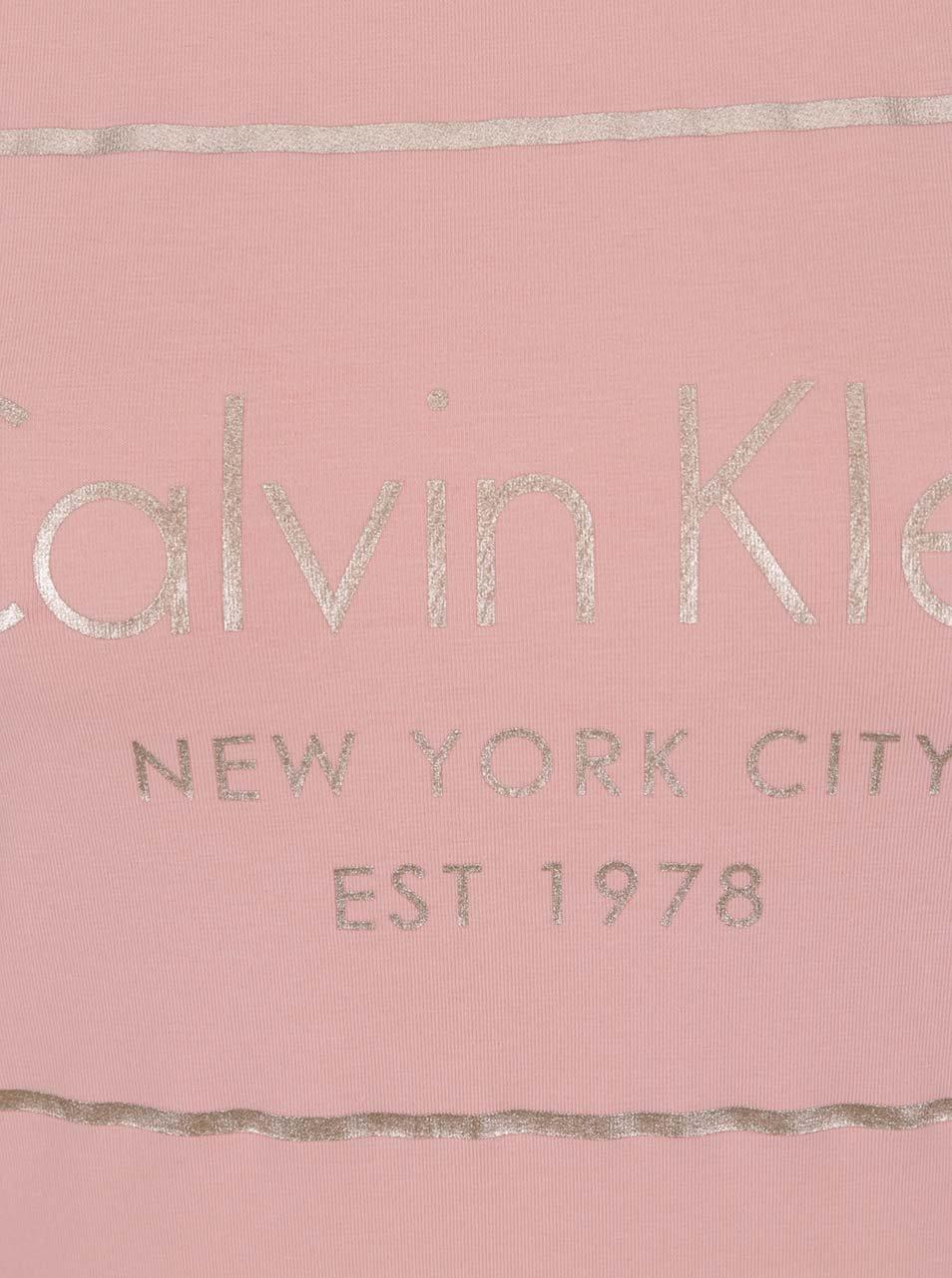 bdd07fd52821 Světle růžové dámské tričko Calvin Klein Jeans Tanya ...