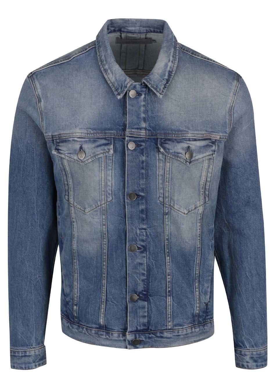 42b4cf8e5 Modrá pánska rifľová bunda Calvin Klein Jeans | ZOOT.sk