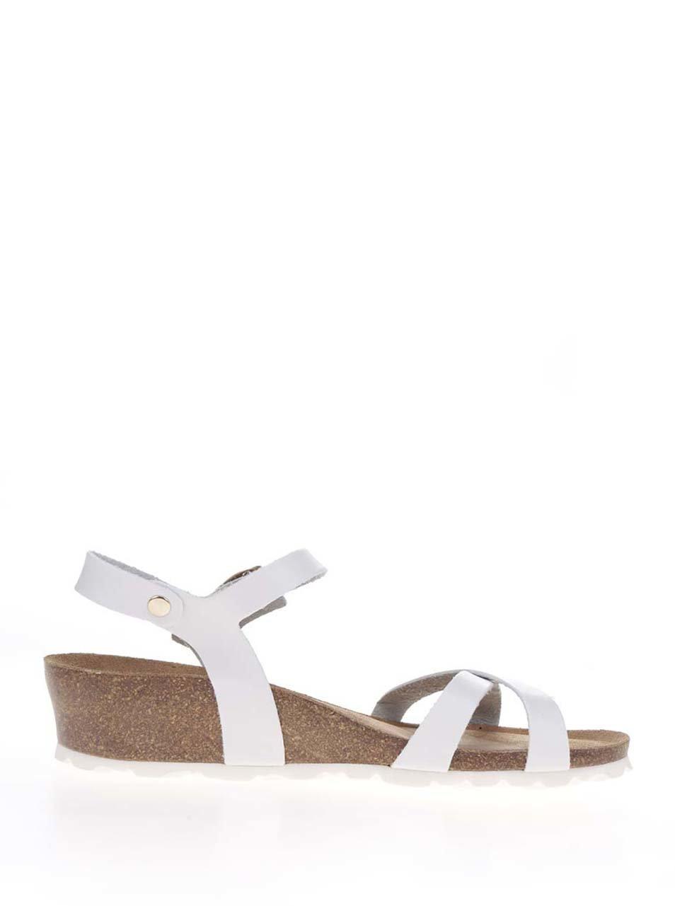 acae438635e3 Biele dámske sandále na platforme OJJU ...