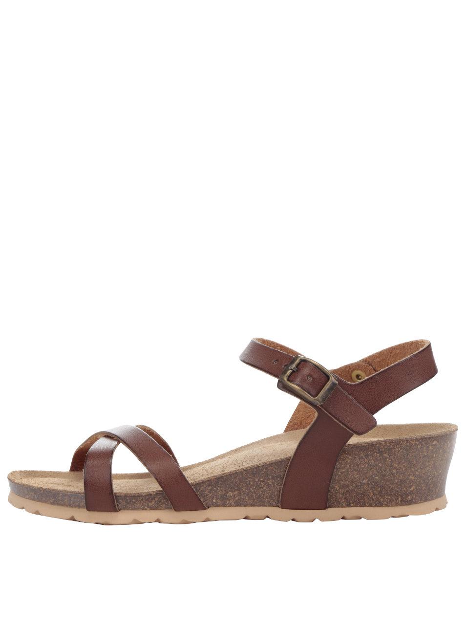 4201410c8f3f Hnedé dámske sandále na platforme OJJU ...