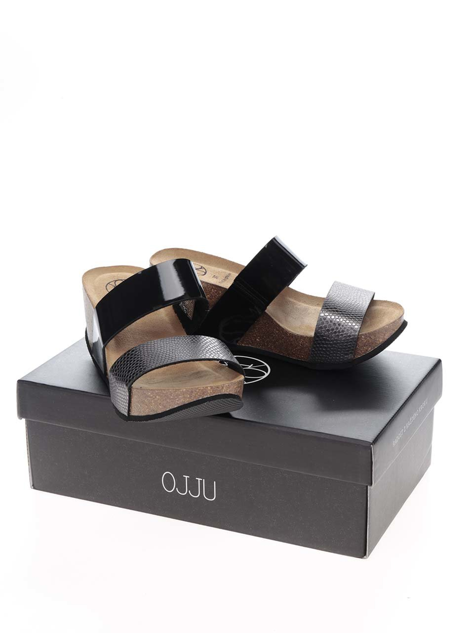 007ff67668f7b Sivo-čierne dámske šľapky na platforme OJJU | ZOOT.sk