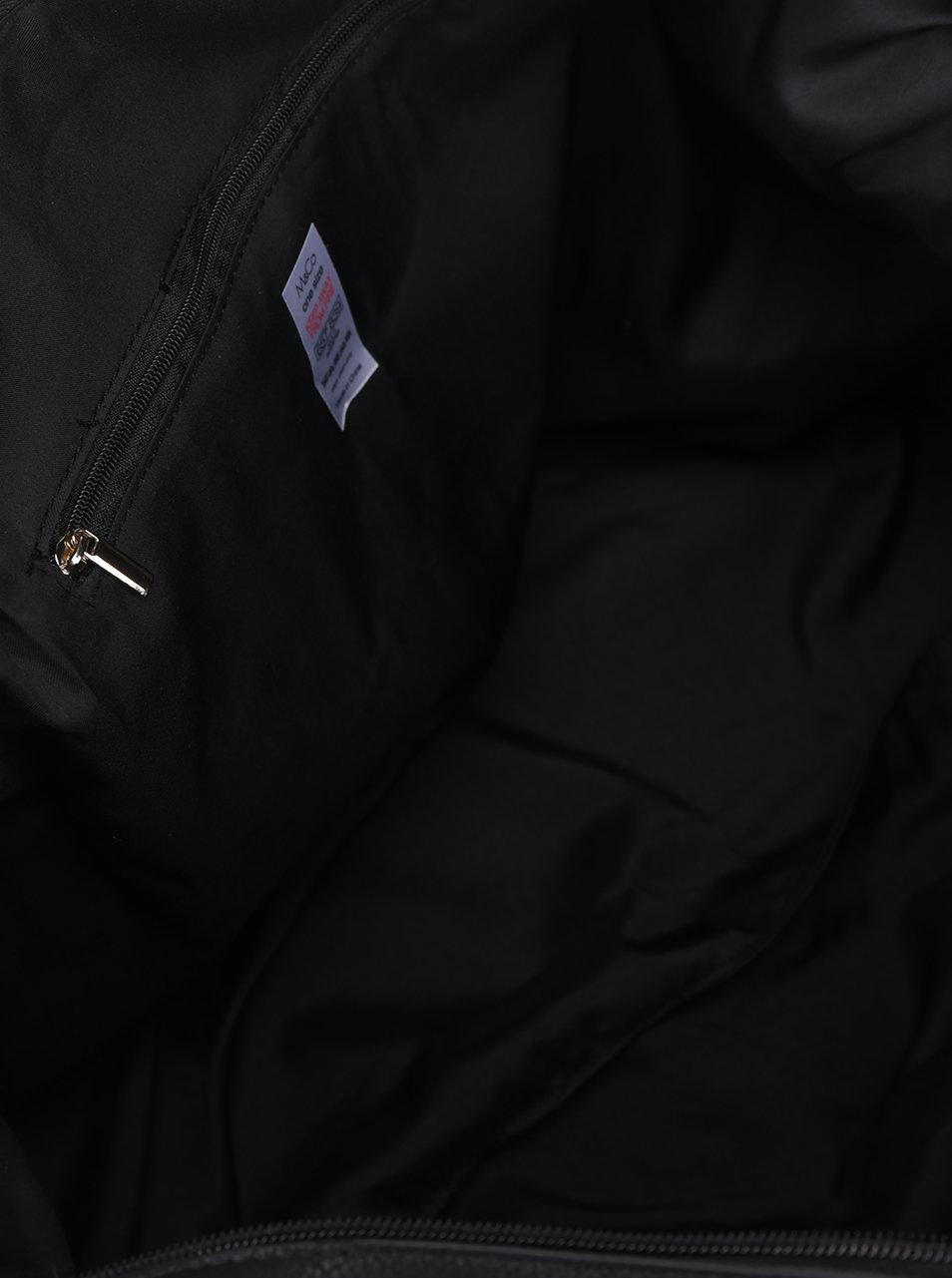 Čierno-béžová veľká kabelka do ruky M Co ... 807c35c4f0