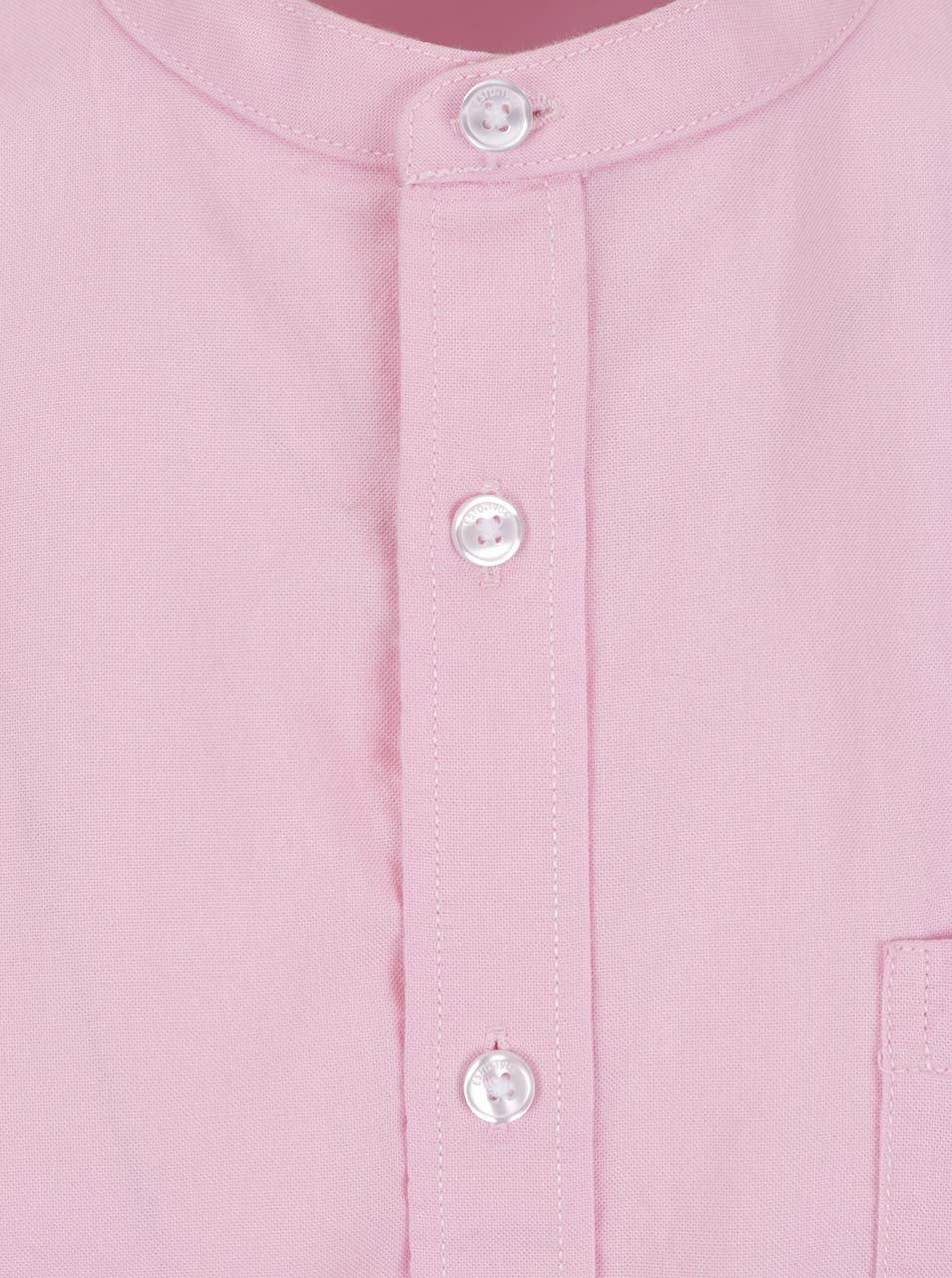 11ca2bac7d16 Ružová košeľa bez goliera Burton Menswear London ...