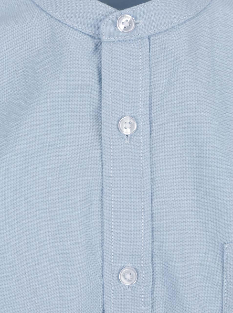 33491f5c4529 Svetlomodrá košeľa bez goliera Burton Menswear London ...