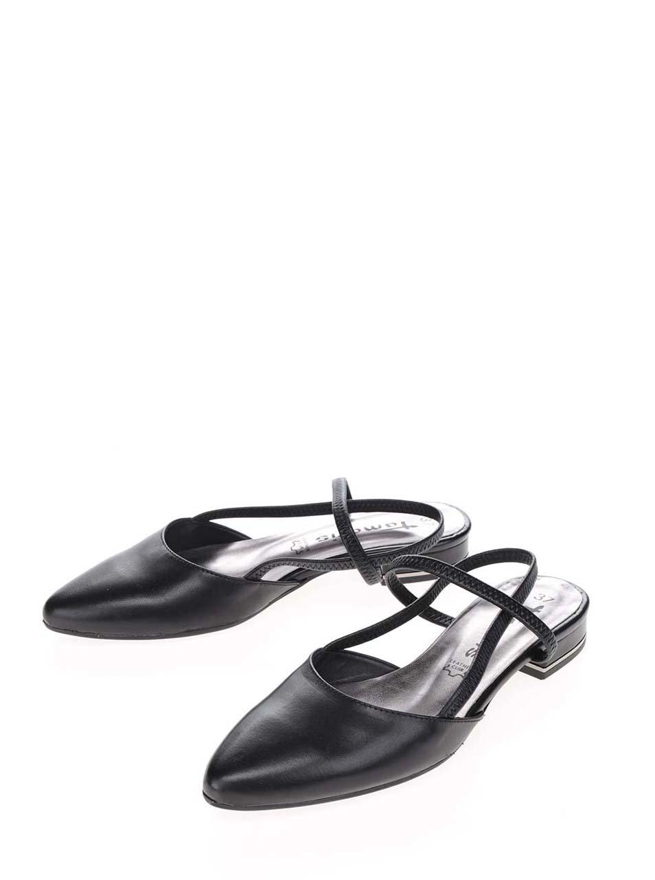 bdef16321c97 Čierne kožené sandále s uzavretou špičkou Tamaris ...