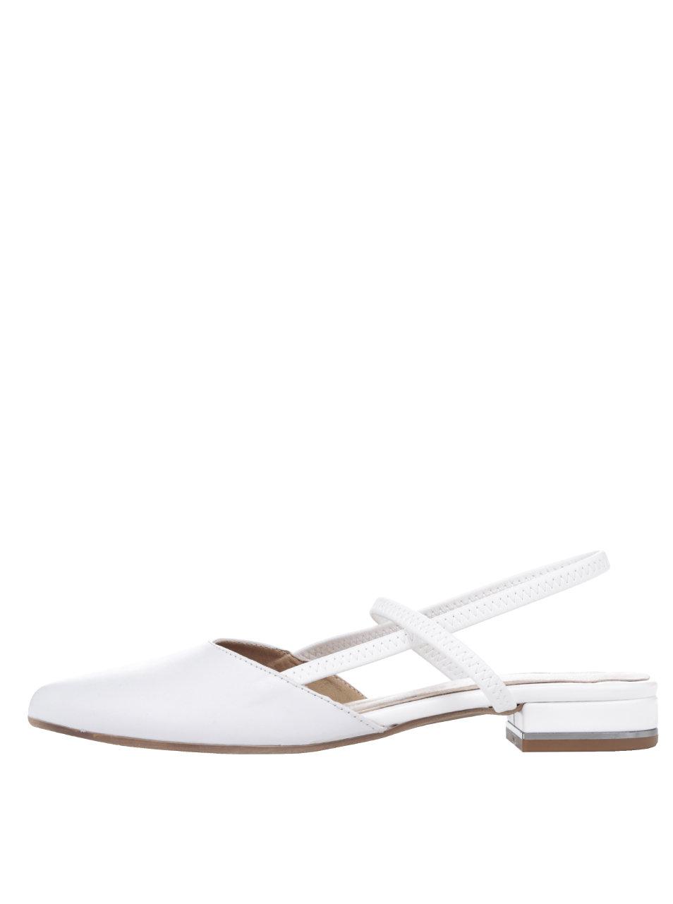 62ad66f411e0 Krémové kožené sandále s uzavretou špičkou Tamaris ...