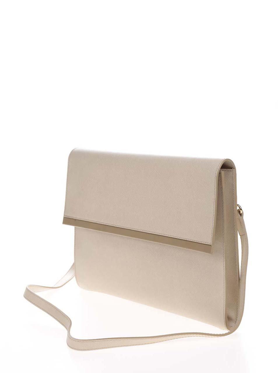 Béžová kožená listová kabelka Elega Lola ... d0ed1353a82