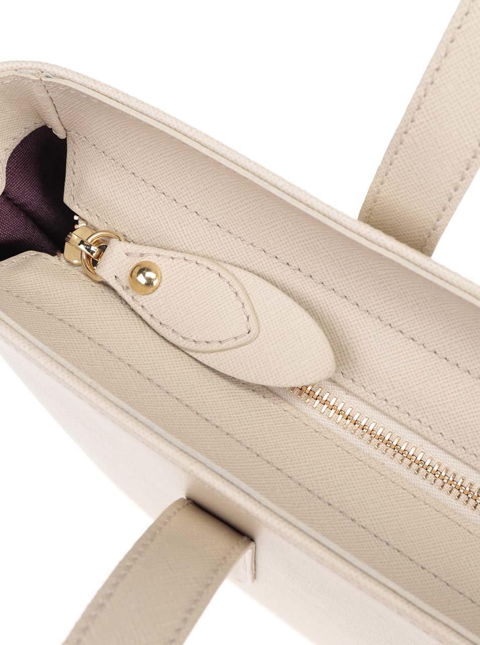 7b71212bae Béžová kožená veľká kabelka Elega Simone ...